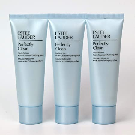 Estee Lauder Perfectly Clean Multi-Action Foam Cleanser Purifying Mask 150ml 5oz 3Pack of 50ml 1.7oz Tubes