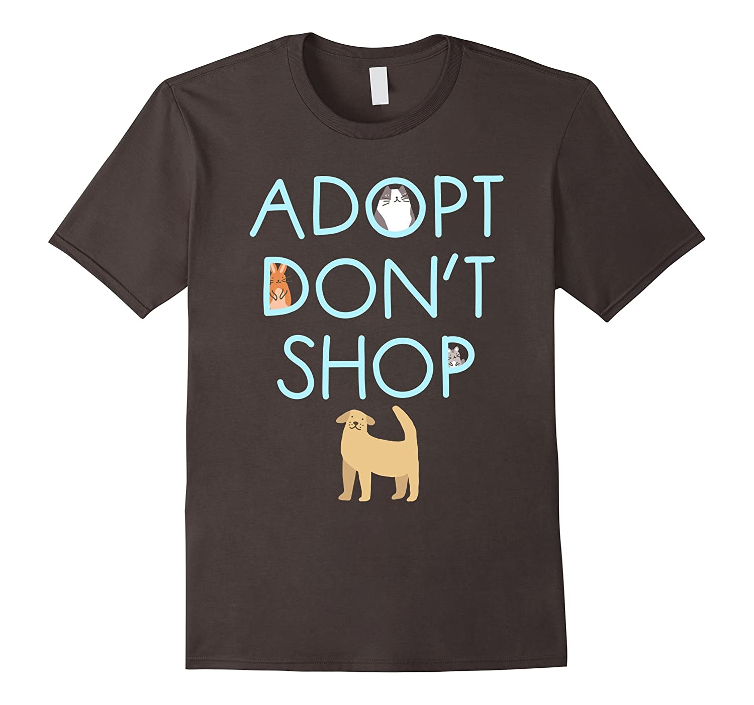 Adopt Don't Shop Animal Rescue Tee Shirt-4LVS