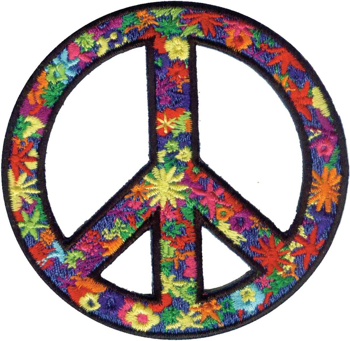60s , 70s Hippie Clothes for Men C&D Visionary Application Flower Power Peace Patch $5.34 AT vintagedancer.com
