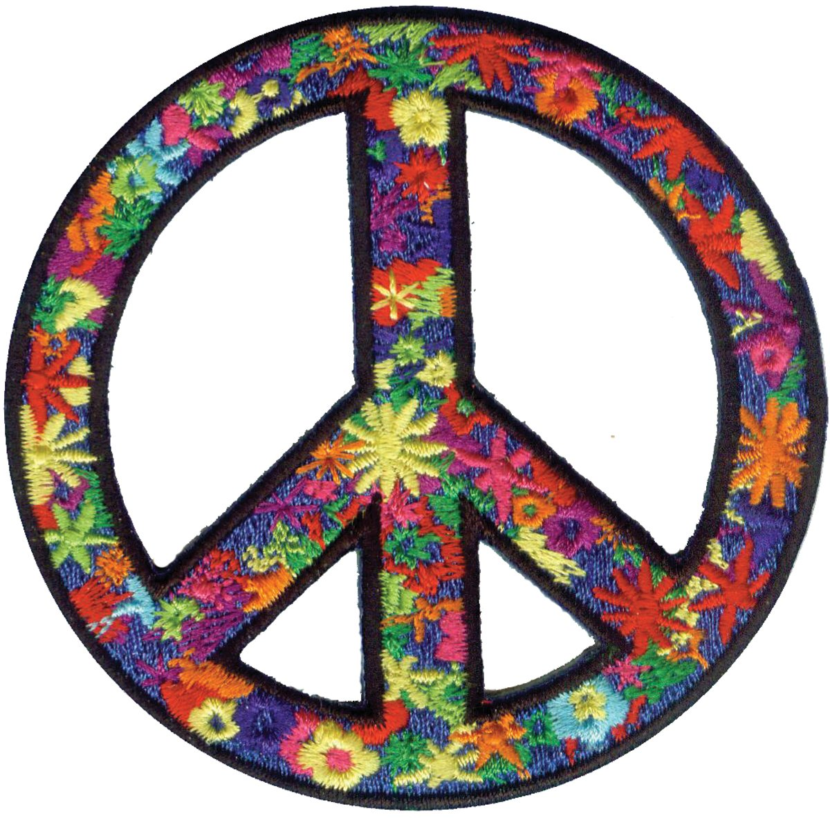 Application Flower Power Peace Patch