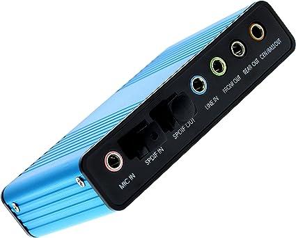 Amazon.com: Optimal tienda USB 6 Canales tarjeta de sonido ...