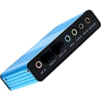 Tienda óptima nueva USB 6 canal tarjeta de sonido externa 5,1 adaptador envolvente Audio S/PDIF para portátil
