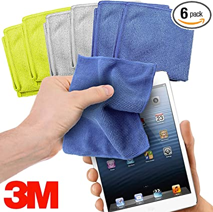"3M EYEGLASS LENS Microfiber CLEANING CLOTH Electronics Screen 7/""X 6.3/"" 10 PACK"