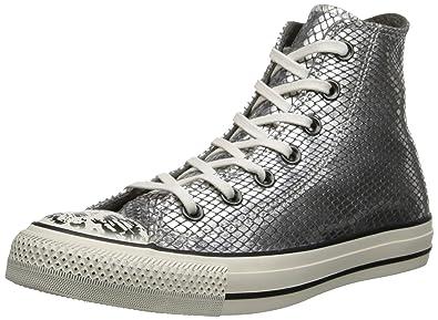 cd9711481a213 Converse Baskets Chuck Taylor Snake Fur Hi Cuir Gris All Star 37 Femme