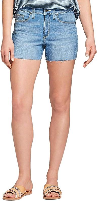 womens stretch jean shorts