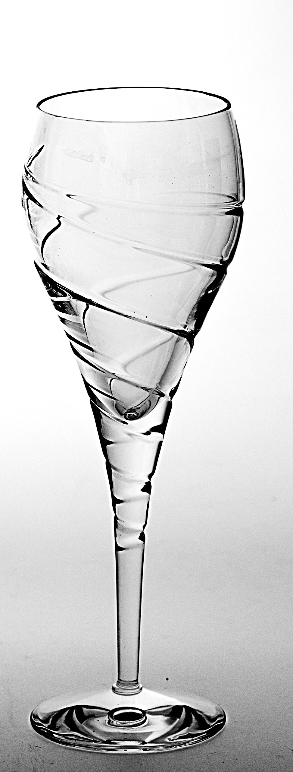 Barski - European Quality -Cut Crystal Glasses- Wine Goblet - Glass is 8.75 oz. - Made in Europe - Set of 6