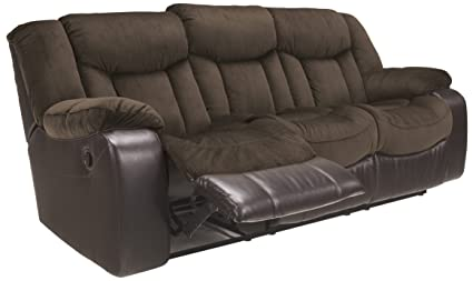 Ashley Furniture Signature Design   Tafton Reclining Sofa   Contemporary  Style   Java