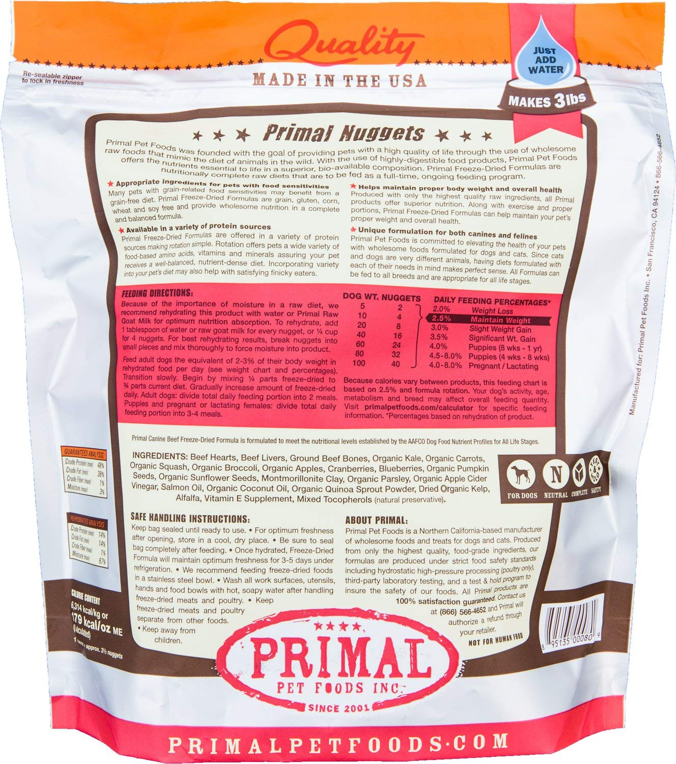 Amazon.com: Primal Freeze Dried Pet Foods: Kitchen & Dining