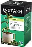 Stash Tea Peppermint Herbal Tea 20 Count Tea Bags in Foil 0.7 oz (Pack of 6), Premium Herbal Tisane, Minty Refreshing Herbal Tea, Enjoy Peppermint Tea Hot or Iced