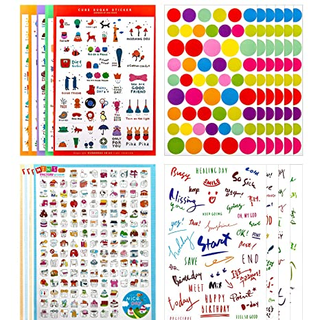 KINBOM 1400+ Planner Sticker. Diaria, Semanal, Mensual ...