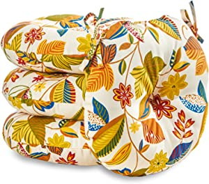 Greendale Home Fashions AZ6817S4-ESPRIT Foliage Outdoor 18-inch Bistro Seat Cushion (Set of 4)