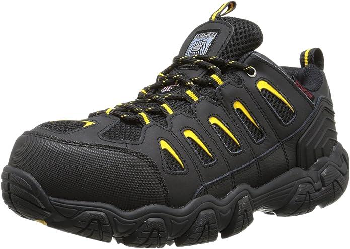 Homme Grafters Steel Toe Noires à Lacets Baskets De Sécurité Skate Work Shoes