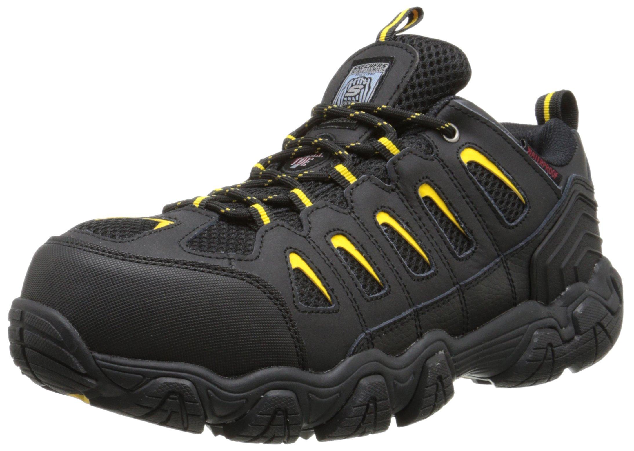 Skechers for Work Men's Blais Hiking Shoe, Black, 10 M US by Skechers