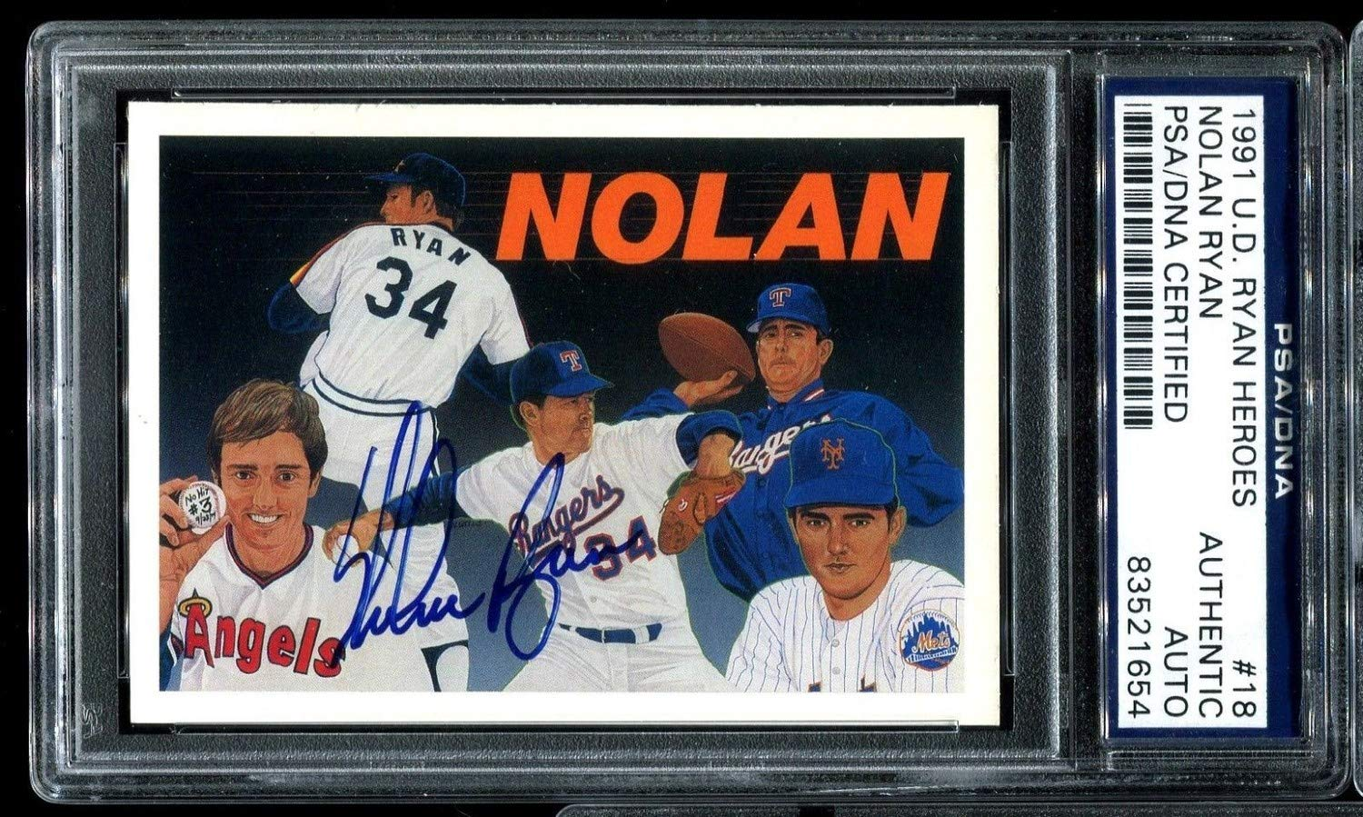 1991 Upper Deck Nolan Ryan Heroes #18 Checklist Autographed Signed PSA/DNA Authentic D