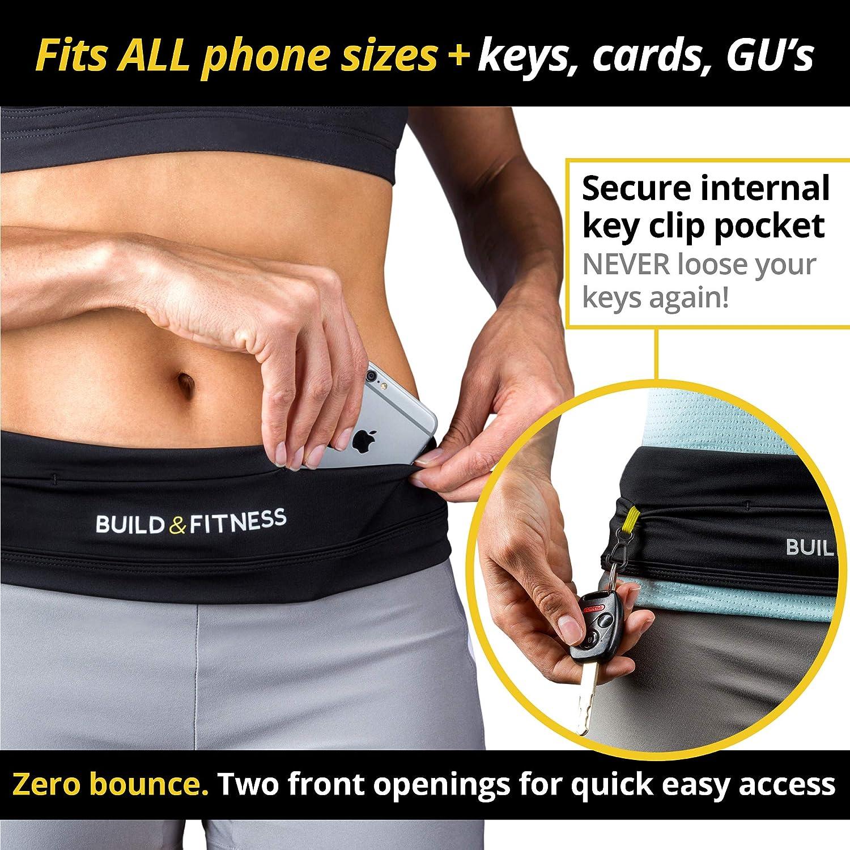 WAIST EXERCISE FITNESS RUNNING BELT FLIP POUCH FOR PHONE KEYS BUM BAG PACK UK