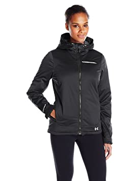 Under Armour Women s ColdGear infrarrojos chaqueta de Ampli, mujer, Black/Boulder