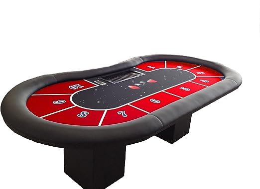 Newpokertable. mesa de poker de 246x124 con fichero y caja de ...