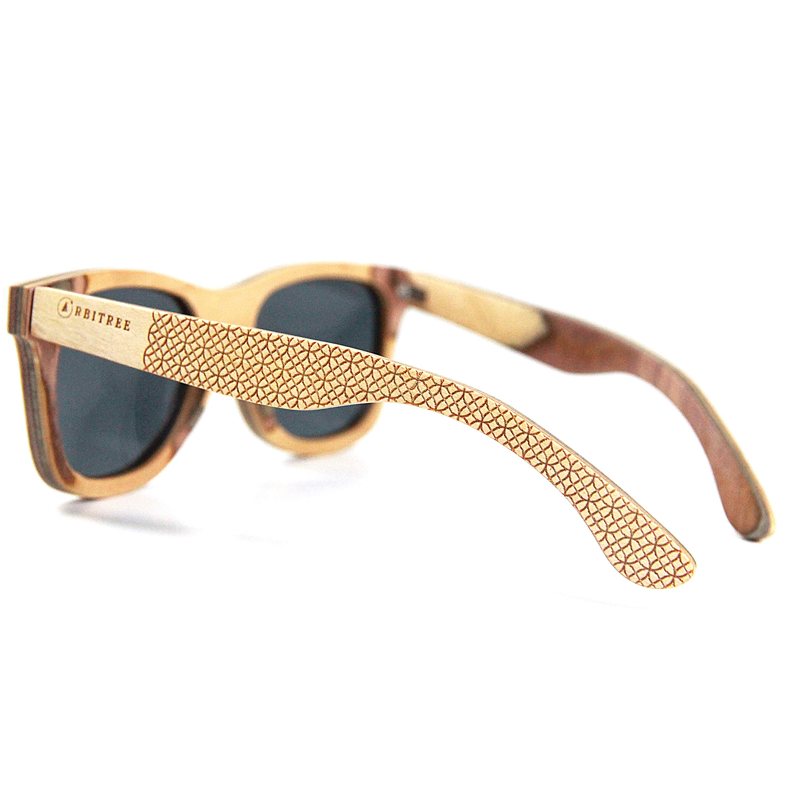Orbitree Wood Sunglasses for Men and Women. 100% Maple Wood