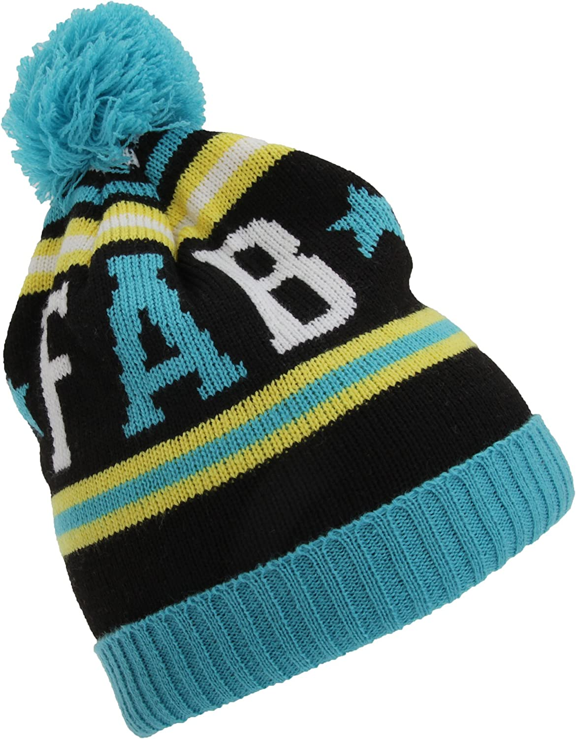 Universal Textiles Childrens Girls Slogan Design Winter Bobble Hat