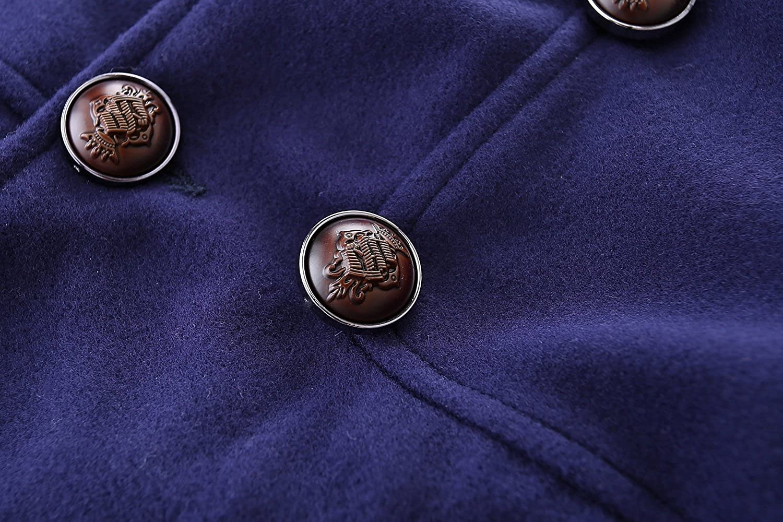 Mud Kingdom Boys Dress Coats with Hood Faux Wool Overcoat Dress Coats