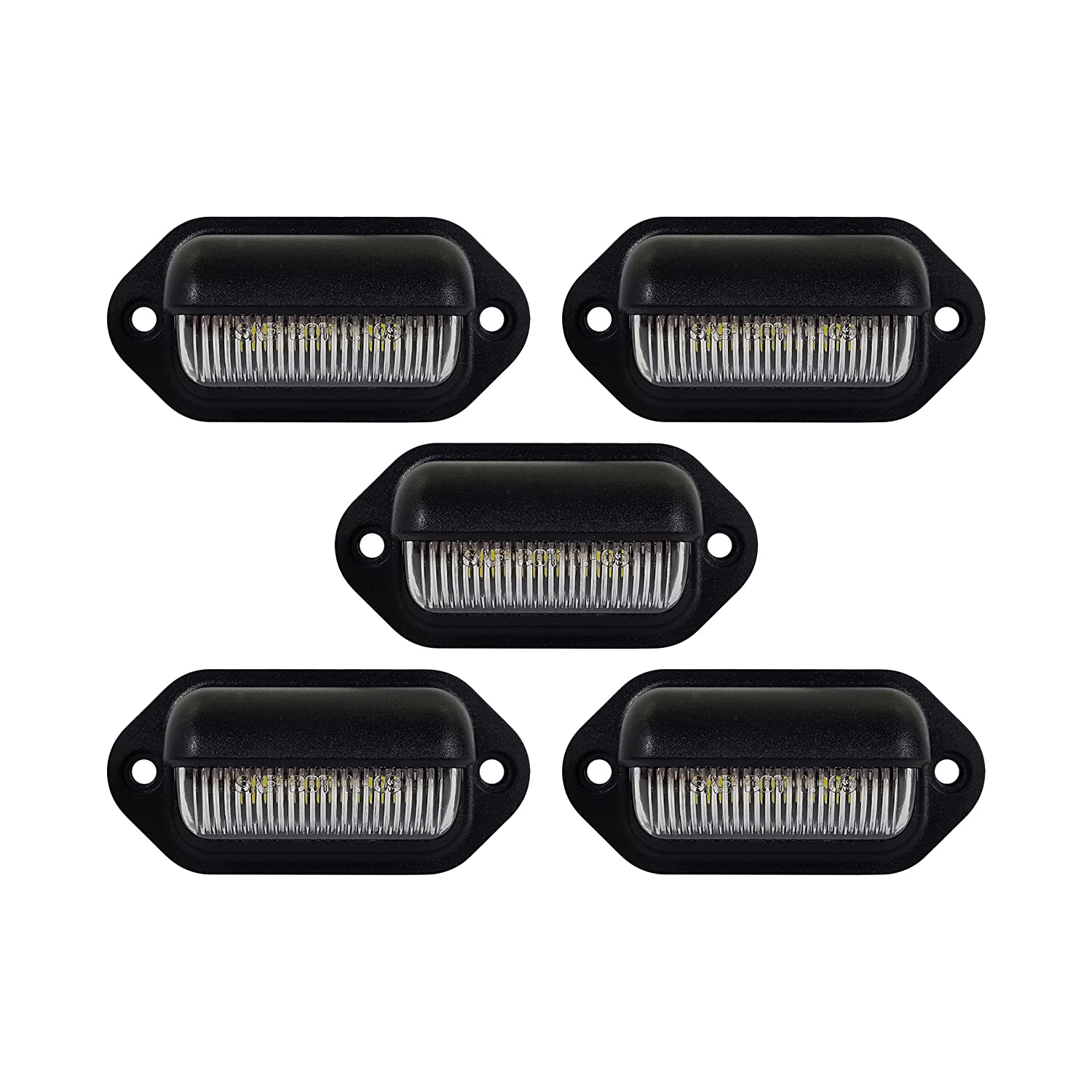 5 LED LICENSE PLATE TAG LIGHT BLACK BOAT TRAILER RV TRUCK INTERIOR STEP LIGHT Long Haul ELK-132706B5