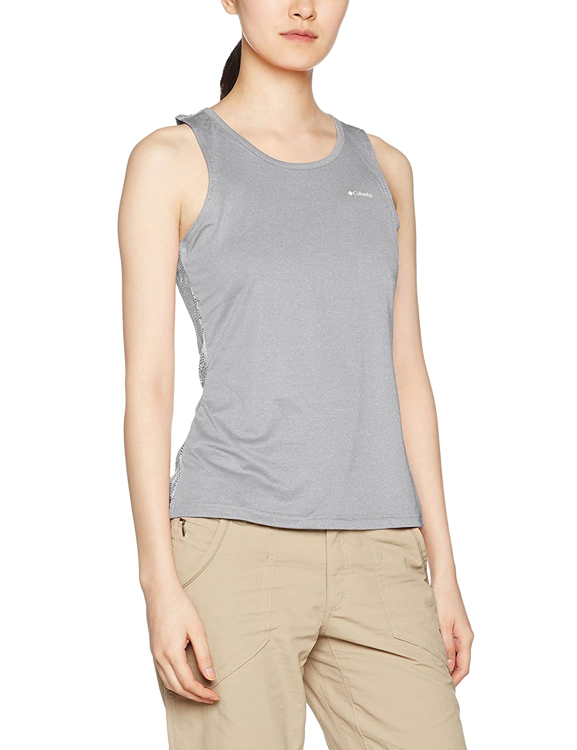 TALLA M. Columbia Mujer Camiseta de tirantes, PEAK TO POINT NOVELTY TANK, Poliéster, 1710451
