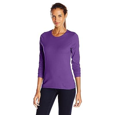 Hanes Womens Long-Sleeve Crewneck T-Shirt (O9133): Ropa y accesorios