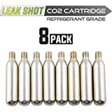 Leak Saver - Leak Shot Refrigerant Grade CO2 Refill Cartridges (8 Pack) - Refill for The Leak Shot HVAC Kit (Sold Separately) - for A/C & Refrigeration Systems Up to 5 Tons - USA Made