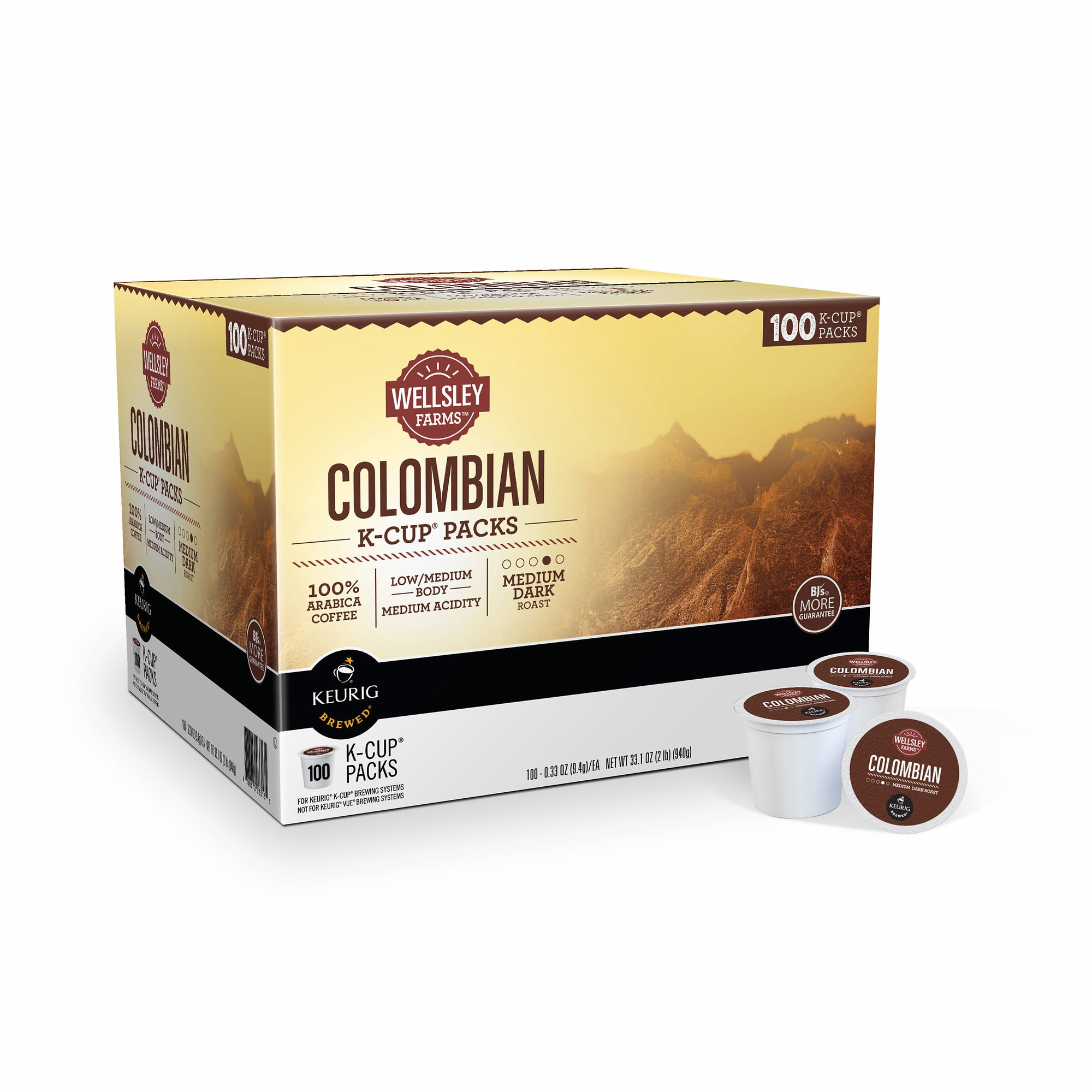 Wellsley Farms Colombian K-Cup Pods, 100 ct. (pack of 2)