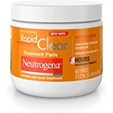 Neutrogena Rapid Clear Acne Face Pads with Salicylic Acid Acne Treatment Medicine to Fight Face Breakouts, Oil Free Pads…