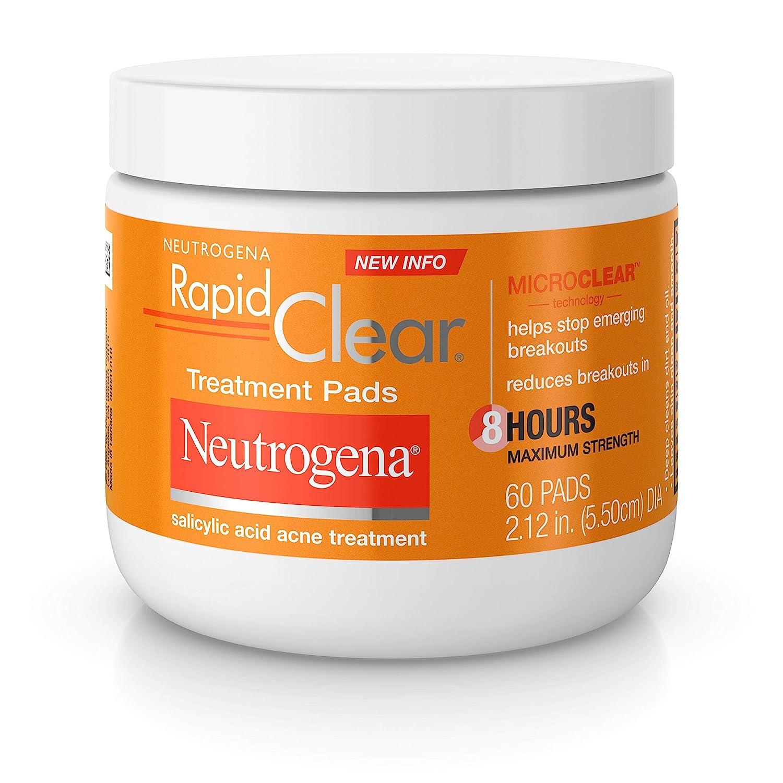 Amazon Com Neutrogena Rapid Clear Acne Face Pads With Salicylic