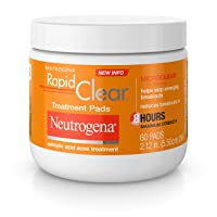 Neutrogena Rapid Clear Acne Face Pads with Salicylic Acid Acne Treatment Medicine...