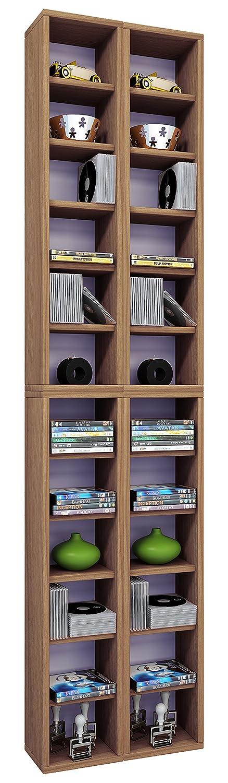 cherry 175x42x20 cm VCM archiving System Almera for 408 CDs