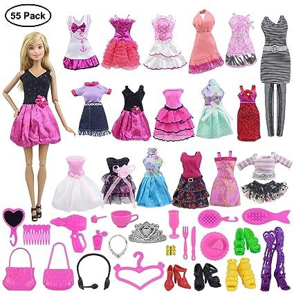 Amazon.com: EC2TOY 5 piezas Vestidos hechos a mano + 50 ...