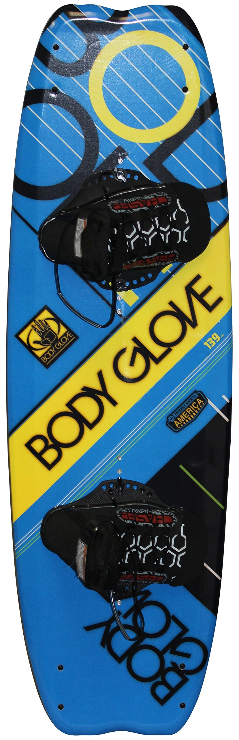 Body Glove Adult Concept Wakeboard, Blue/Yellow, Universal