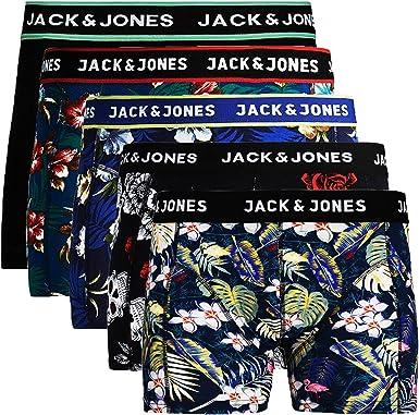 JACK /& JONES 5er Pack Herren Boxershorts Trunks Unterhosen Shorts Jack and Jones Unterw/äsche Boxer