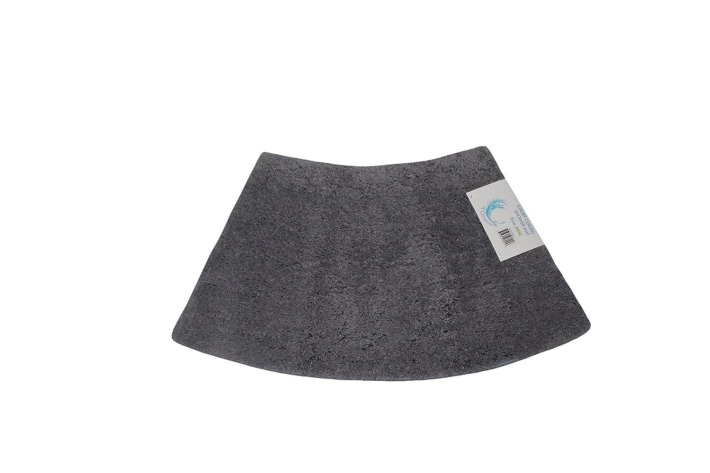 Cazsplash Lusso quadrante Mini Curvo Tappetino Doccia, Cotone, Grigio, 42x 26x 5cm 706502080457