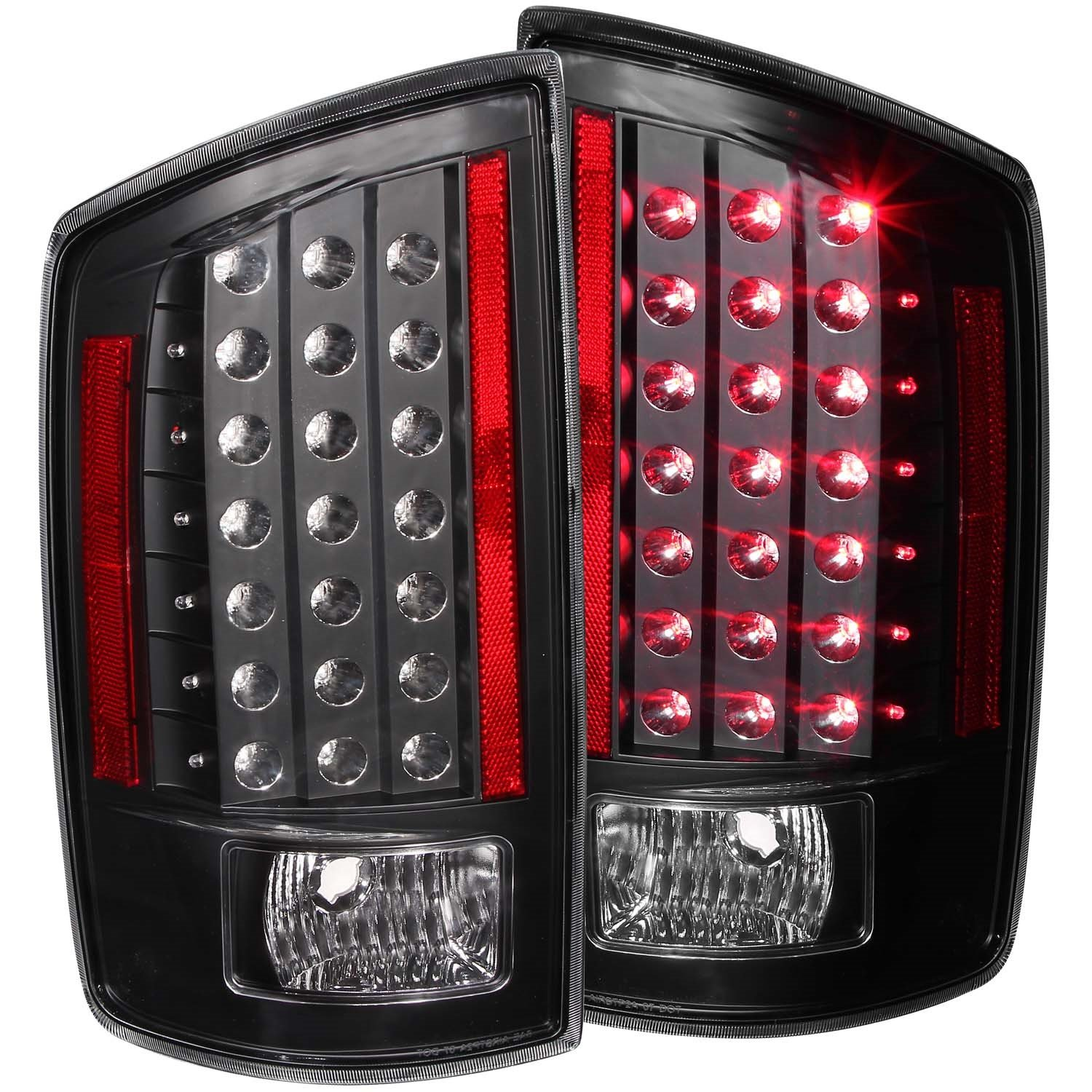 Amazon.com: Anzo USA 311123 Dodge Ram Black LED Tail Light Assembly   (Sold  In Pairs): Automotive