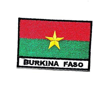 Amazon.com: nipitshop parches Burkina Faso país bandera ...