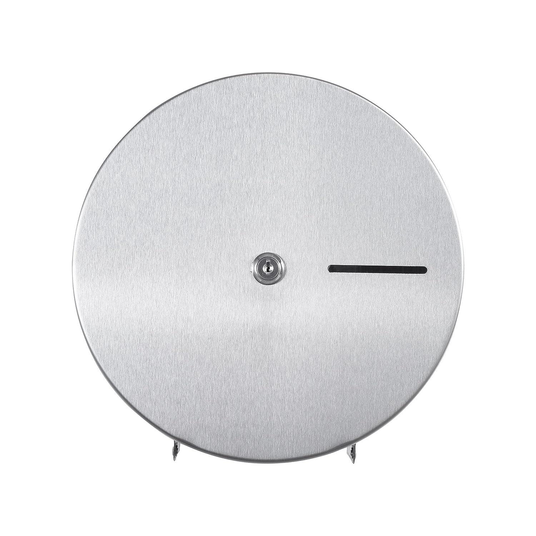 304 Grade Stainless Steel Lockable Design Jumbo Roll Toilet Paper Dispenser 9 Roll Capacity