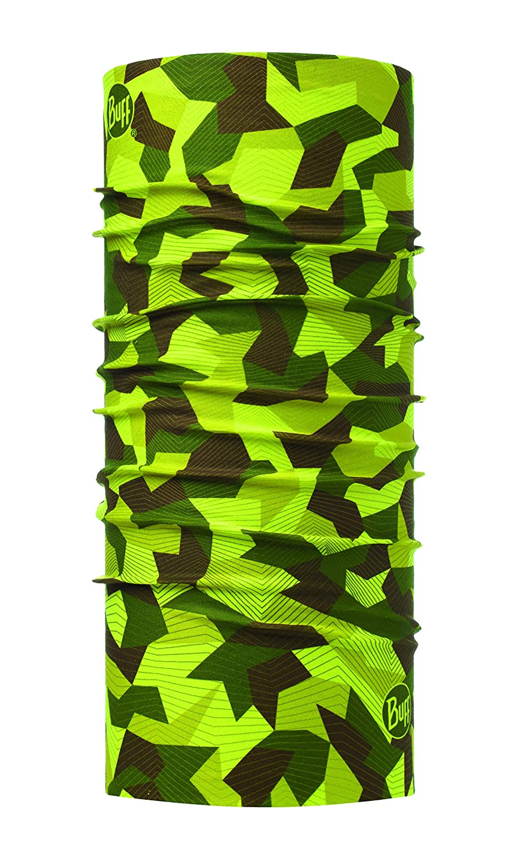 Talla /Única Verde Buff Block Camo Original Tubular Unisex Adulto
