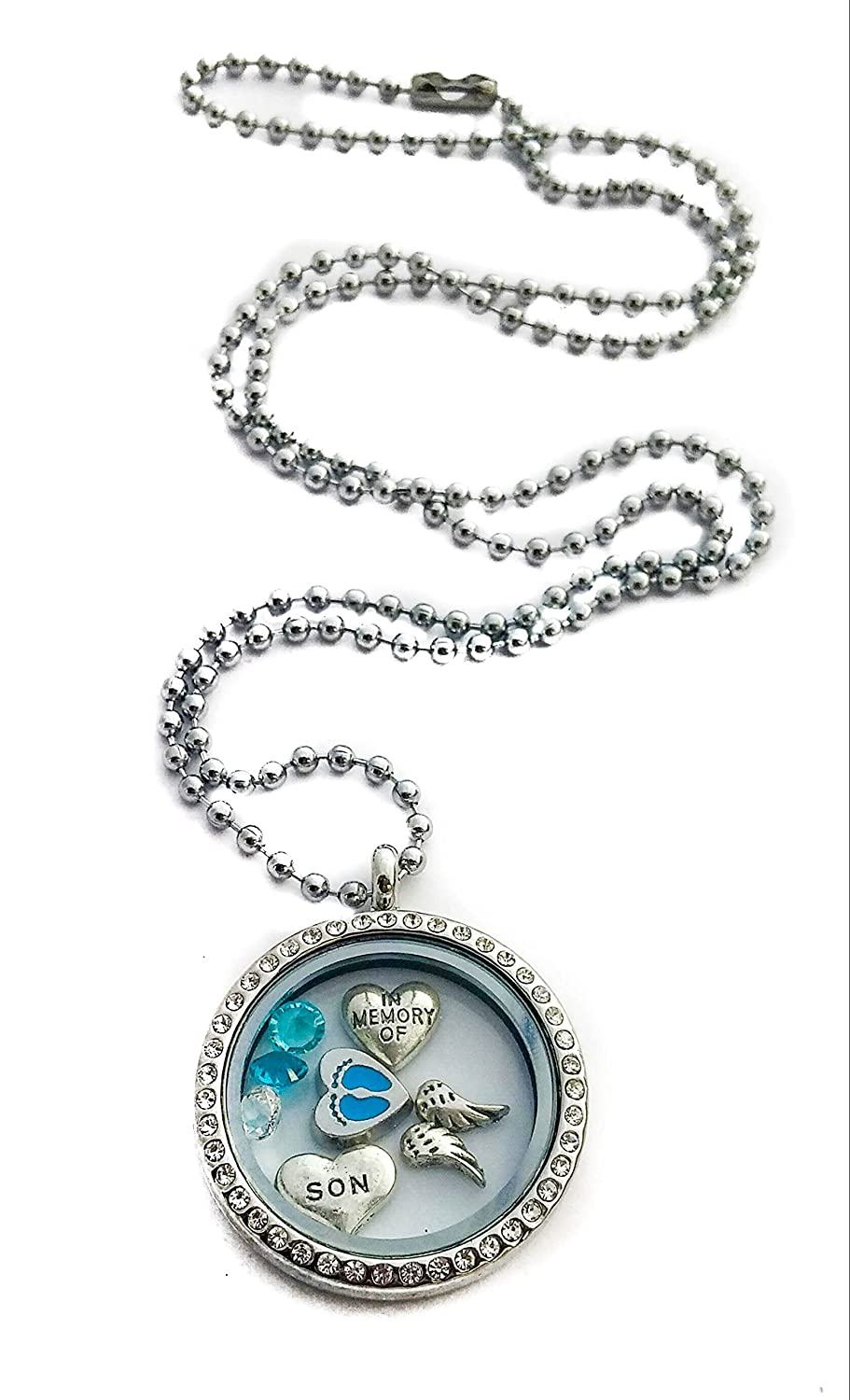 In Memory of My Son By Living Memory Lockets for Less Miscarriage Baby Boy