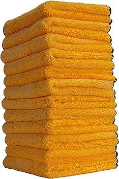 12-Pack Chemical Guys 16 Inch X 16 Inch Premium Microfiber Towel