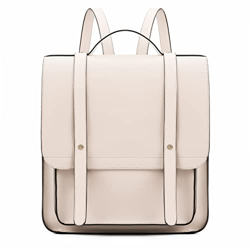 fe56f7ecec2b ECOSUSI Women Satchel Backpack Soft PU Leather Laptop School Rucksack with Small  Purse  Amazon.co.uk  Shoes   Bags