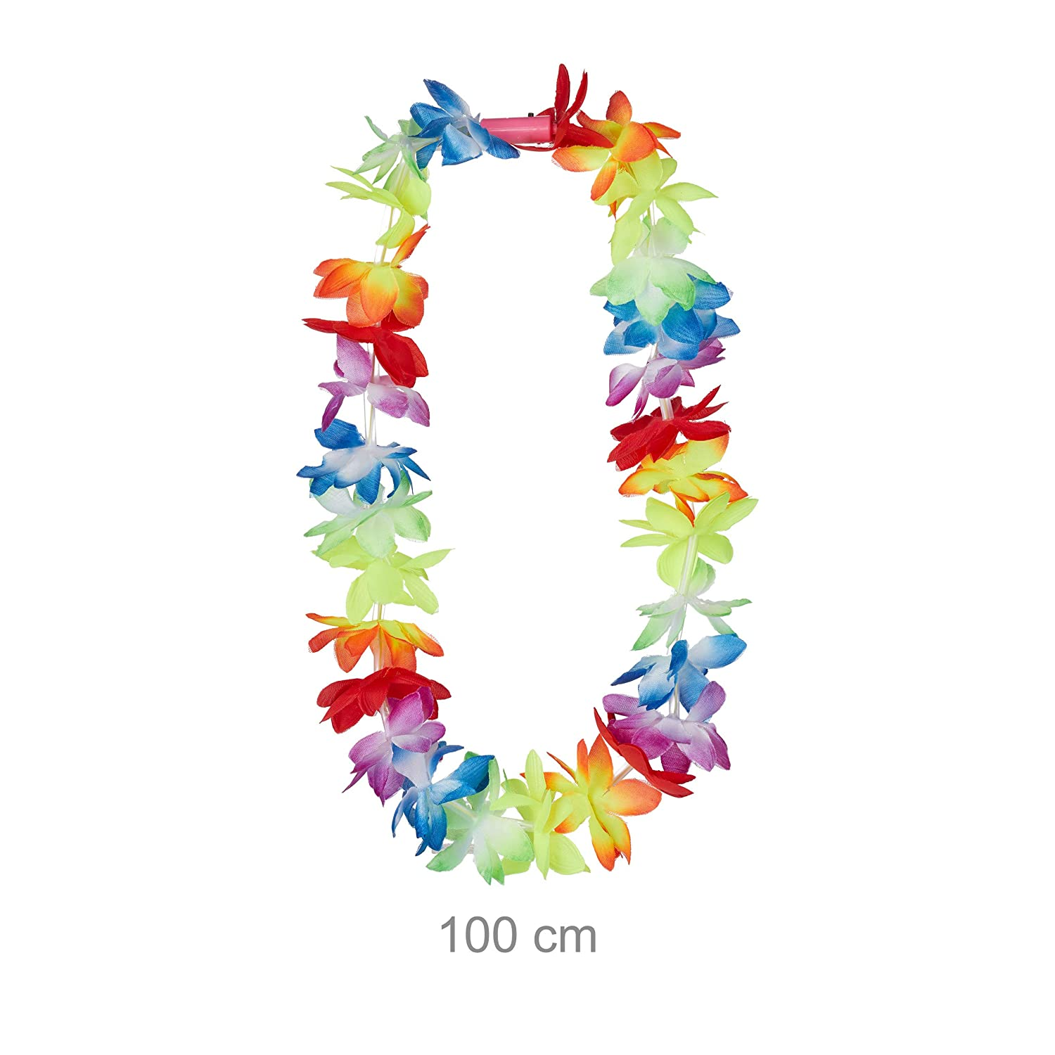 Relaxdays- Pack 10 Collares Flores Hawaianas LED para ...