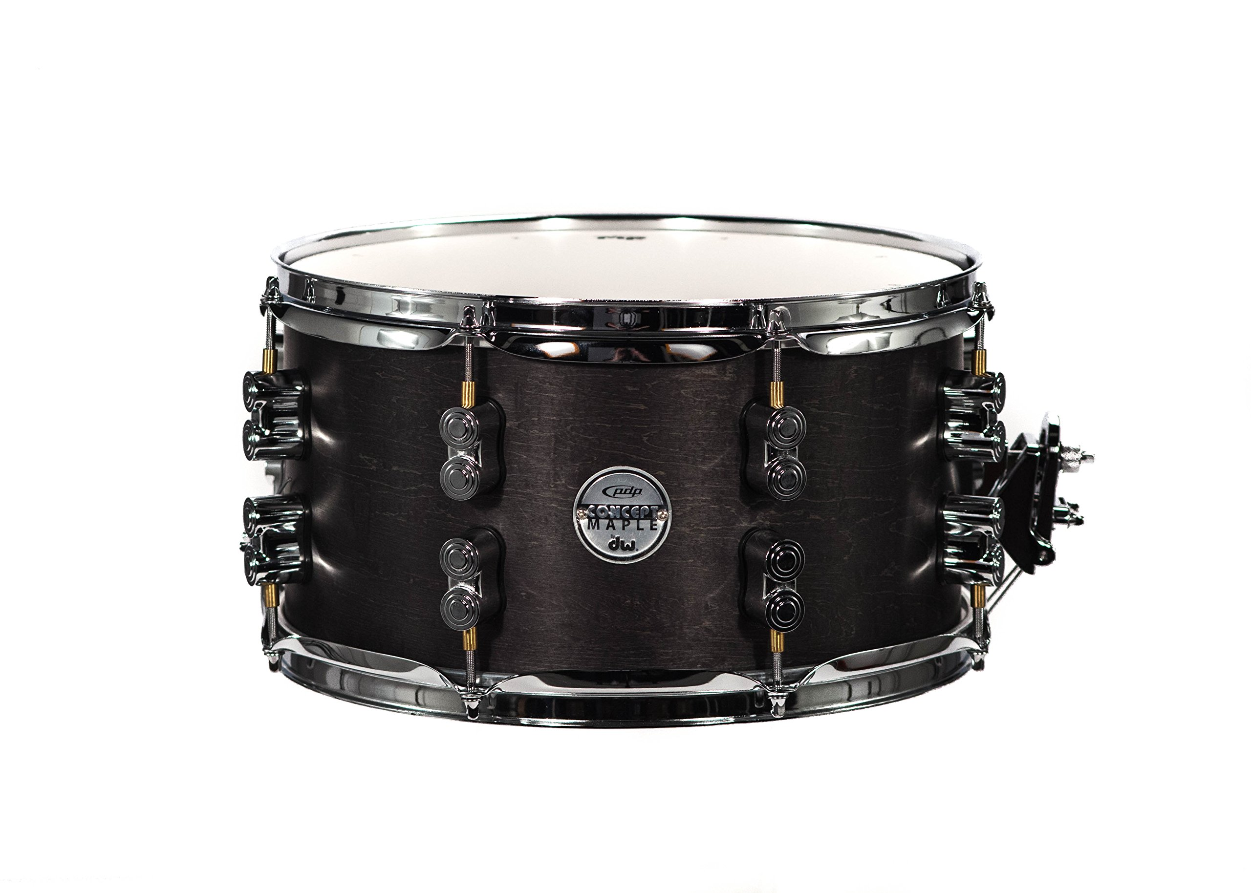 PDP By DW Black Wax Maple Snare Drum 7x13 by Pacific