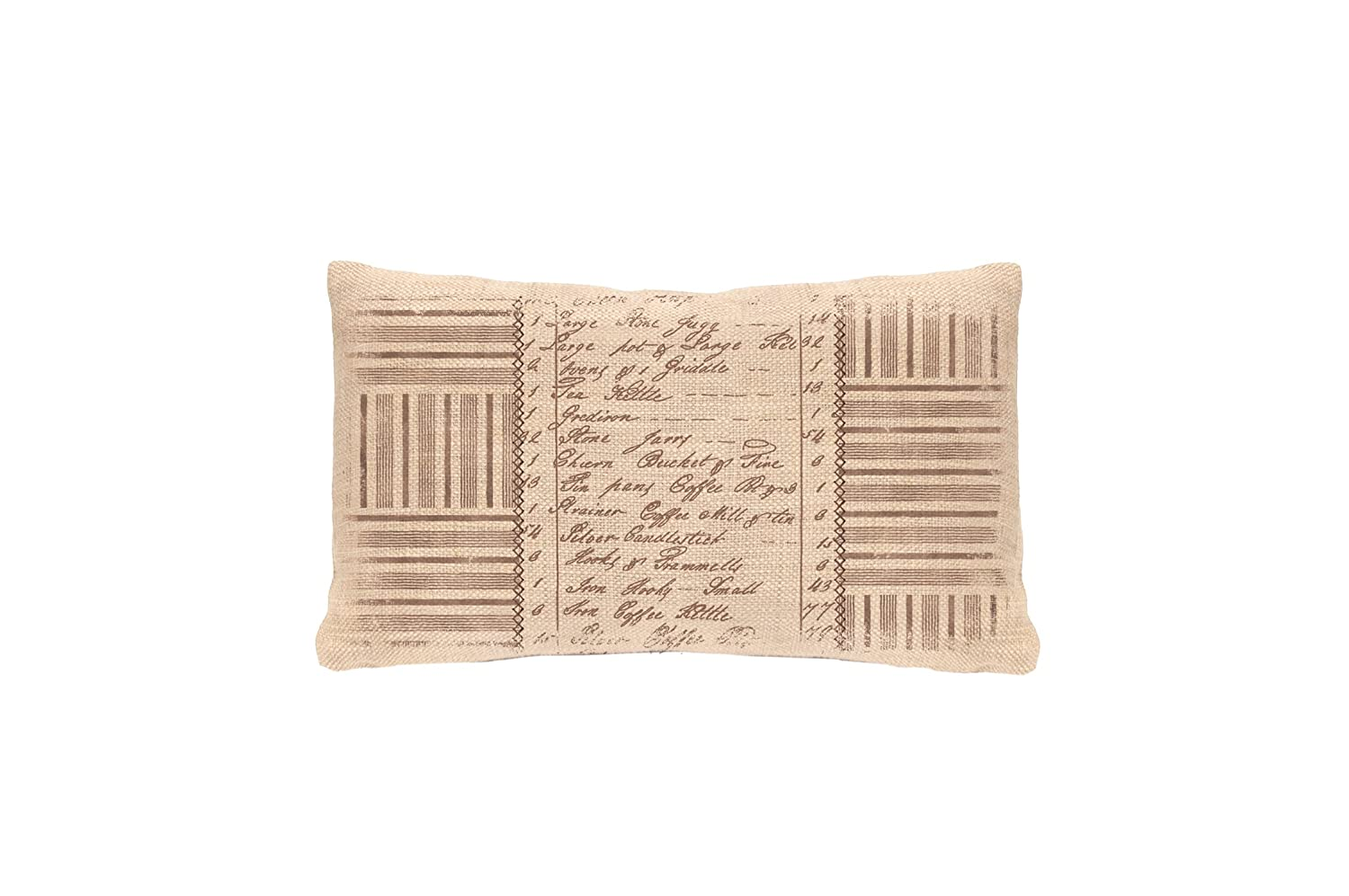 12 by 20-Inch Heritage Lace Kitchen Inventory Pillow Cover Natural