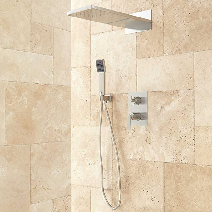 Signature Hardware 927746 Calhoun Shower System With Rainfall Shower Head And Hand Shower Rough In Included Amazon Com