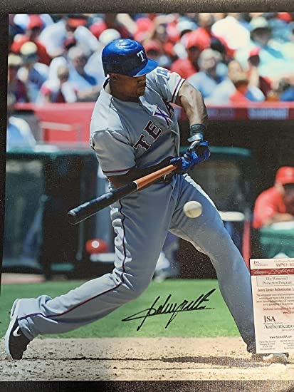 official photos f25bc 31c18 ADRIAN BELTRE TEXAS RANGERS AUTHENTICATED SIGNED 20x24 ...