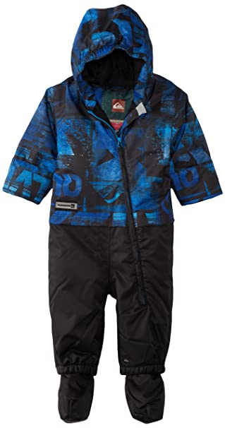 74920242d Quiksilver Snow Baby Boys' Little Rookie One Piece Suit, Blue, 12 Months